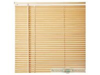 14 various sized beech wooden venetian blinds ..USED