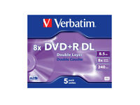 Pack of 4 brand new Verbatin Double Layer (8x) DVD+R Dual Layer 8.5 GP