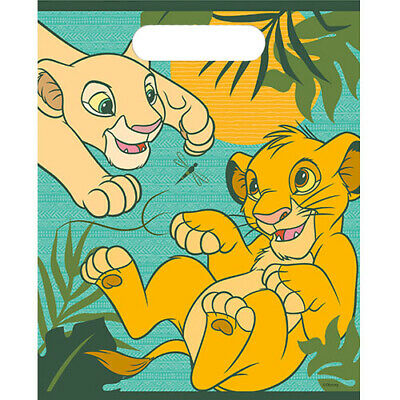 Lion Party Supplies (LION KING Simba and Nala FAVOR BAGS (8) ~Birthday Party Supplies Plastic)