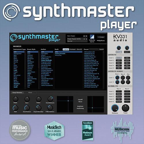 KV331 Synthmaster Player - Genuine License Serial - Digital Download - Mac & PC