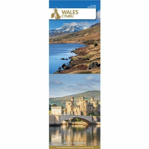 Wales+2021+Calendar+Official+Slim+Wall+Calendar