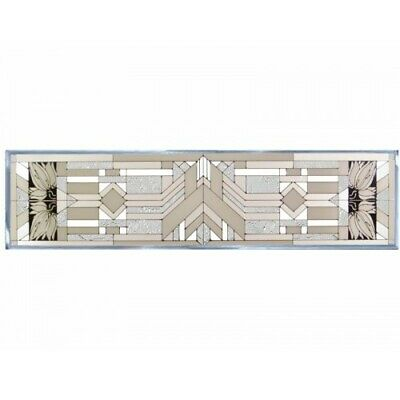 - Mission Style White Art Glass Window Panel Suncatcher 42