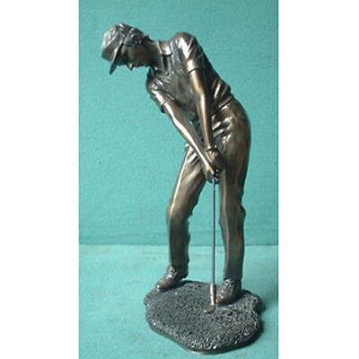 H77 - Rabatt-Aktion: Golfspieler Bronze Imitat Steinguss Golf