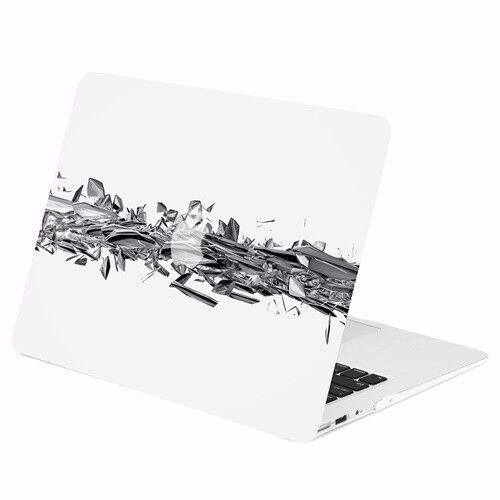 Geometric 3D Shattered Diamond Matte Hard Case for Macbook A