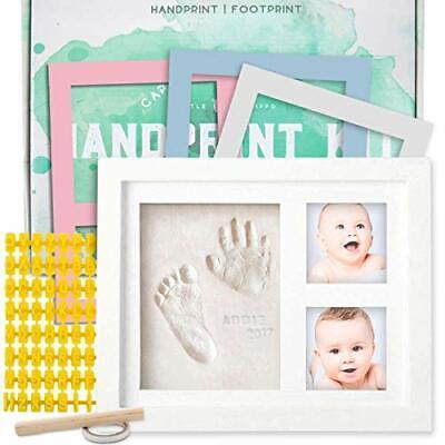 Baby Picture Frame Handprint Footprint Kit Gift For Newborn Keepsake Frames