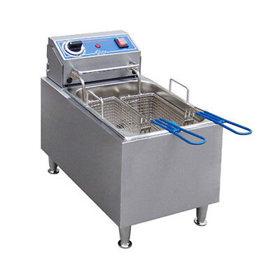 Globe Pf16e 16 Lb Oil Capacity Countertop Electric Fryer