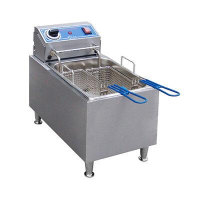 Globe Pf16e 16 Lb Oil Capacity Countertop Electric Fryer