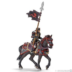 Dragon Knight On Horse with Lance Figurine by Schleich - 70102
