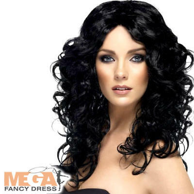 Wonder Woman Ladies Wig Fancy Dress 80s Glamour Fancy Dress Costume Outfit Wig
