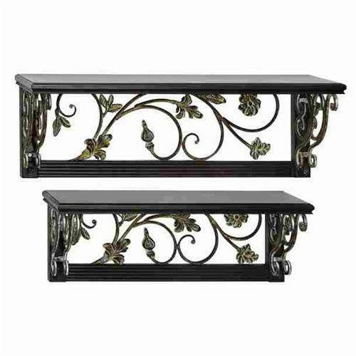 Wrought Iron Wall Shelf Ebay