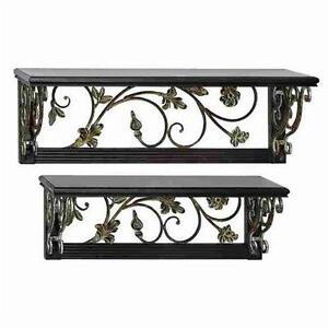 glamorous wrought iron kitchen wall shelves | Wrought Iron Shelf: Home & Garden | eBay
