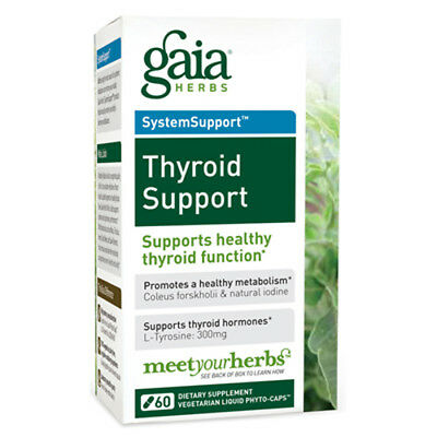 Gaia Herbs Thyroid Support Liquid Phyto Capsules   60 Vegetarian Capsules