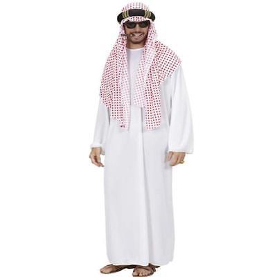 Kostüm Arabischer Scheich Größe XL - Araber Turban rot-weiß Verkleidung #8905S ()