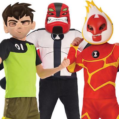 Ben 10 Boys Fancy Dress Omnitrix Alien Force Kids World Book Day Cartoon Costume