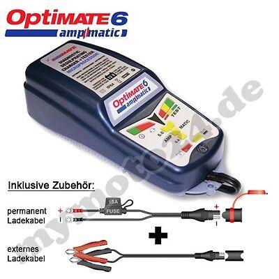 Batterieladegerät Tecmate OptiMate 6 Ampmatic, Erw. 12V-Pflege, SAE-Stecker