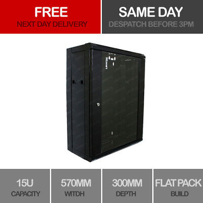 15u Rack (15U Server Rack Data Network Cabinet 19 inch 570 x 300mm Black)