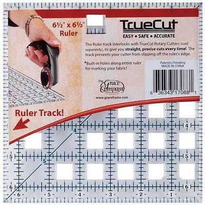 "TrueCut Ruler 6-1/2""X6-1/2"" Great Quality With Built In Holes For Marking Fabric"