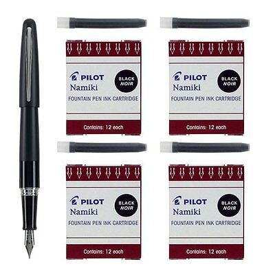 Pilot Bundle 1 Metropolitan Collection Fountain Pen 48 Refills Black 91111-69100