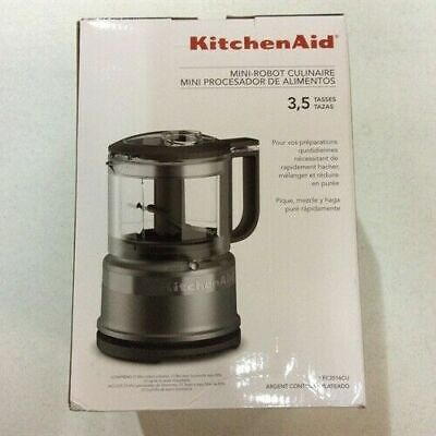 New KitchenAid 3.5 Cup Mini Food Processor, Contour Silver