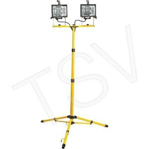 Aurora Tools Twin Head Portable Halogen Work Light
