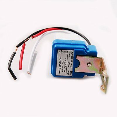 As-10 Auto On Off Street Light Switch Photo Control Sensor Dc Ac 12v 10a 50-60hz