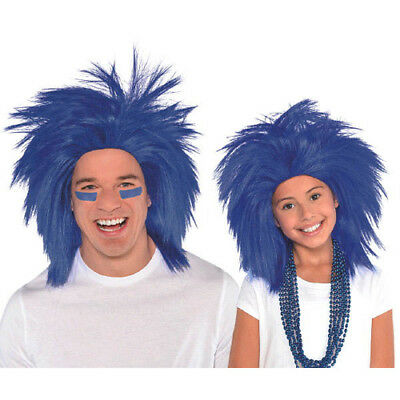 BLUE CRAZY WIG for ADULTS or KIDS ~ Birthday Halloween Party Supplies Costume