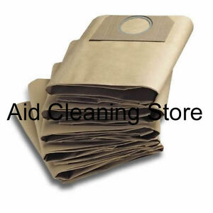10x Karcher WD3.500 WD3.540 WD5.800 Wet & Dry Vacuum Cleaner Dust Bags 10PK AB27