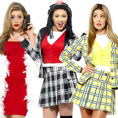 Clueless Ladies Fancy Dress Film Movie Character Novelty Womens Adults (Women's Film Fancy Dress Kostüme)