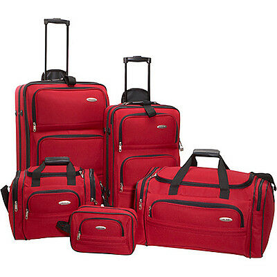 Samsonite 5-Piece Travel Set - Red on Rummage