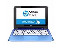 Brand New Hp Stream x360 Convertible Laptop in sky blue with 1yr Microsoft Office 365 & 1yr Warranty