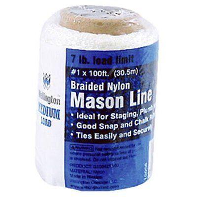 Braided Nylon Chalk Line (Wellington Puritan 10006 Nylon Braided Chalk & Mason Line )