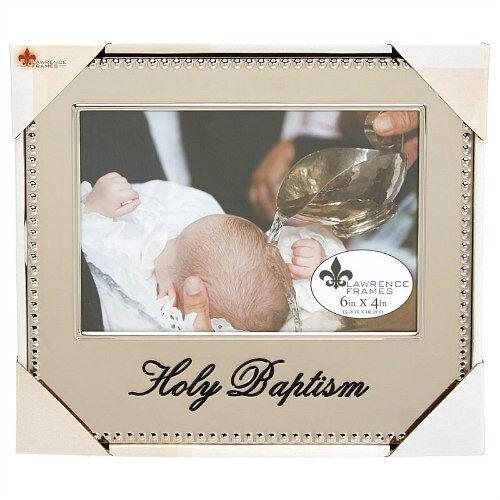 "LAWRENCE FRAMES Holy Baptism Photo Frame 4"" x 6"" NEW"