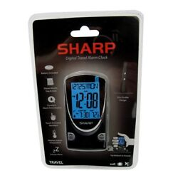 Sharp Digital Travel Alarm Clock SPC446A NEW SEALED  Lithium Battery Included.