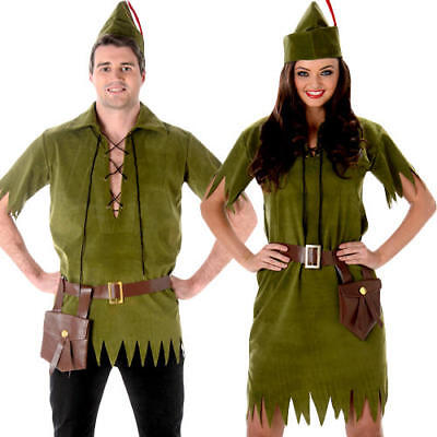 Robin Hood Medieval Fancy Dress Adults Fairytale World Book Day Week Costume New](Ladies Robin Costume)