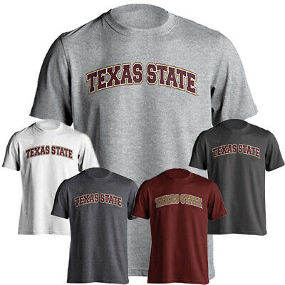University Name T-shirt (Texas State University Bobcats Arched Text School Name Tee Short Sleeve T-Shirt )