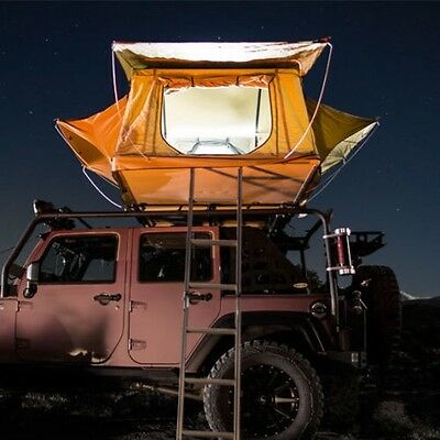 Overland Roof Top Camping Roof Top Tent & Ladder Jeep Off-Road Truck Camping 4x4