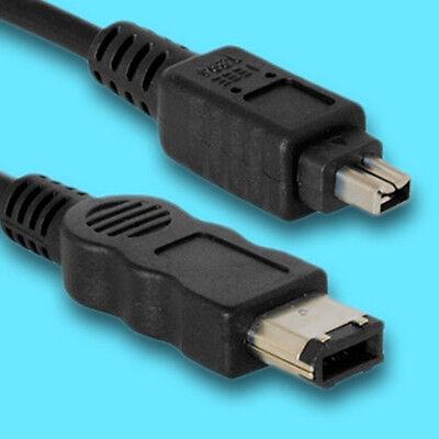 DV Kabel für CANON 4/6-Pin Firewire wie CV-250F 1,8m Canon Firewire-kabel