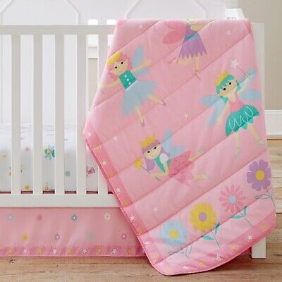 Olive Kids Fairy Princess 3 Piece Crib Bedding Set Wildkins NIP Baby Girl