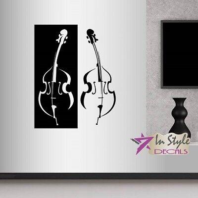 Vinyl Decal Violin Musical Instrument Musician Room Music Shop Wall Sticker 2389