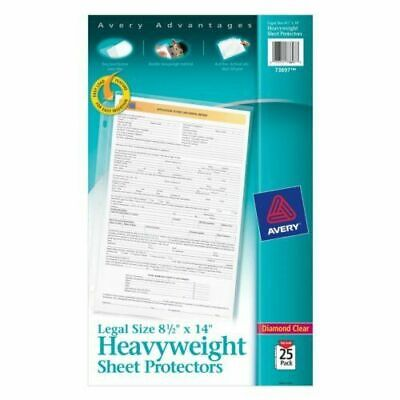 Avery Clear 8.5 X 14 Legal Size Heavyweight Sheet Protectors 25pk New