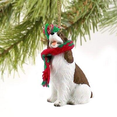 SPRINGER SPANIEL Dog ORNAMENT Resin Figurine NEW liver brown puppy Christmas