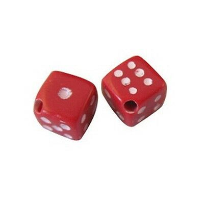 300PCS  Red dice plastic beads 6mm W18707](Red Plastic Beads)