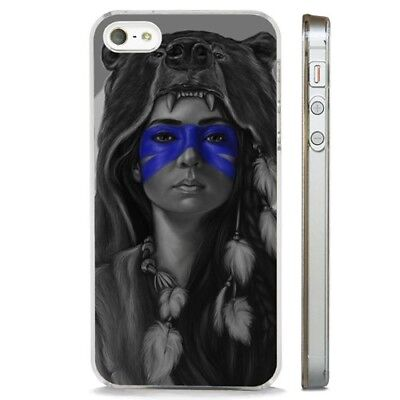 Native American Indian Tribal CLEAR PHONE CASE COVER fits iPHONE 5 6 7 8 X Native American Indian Cover