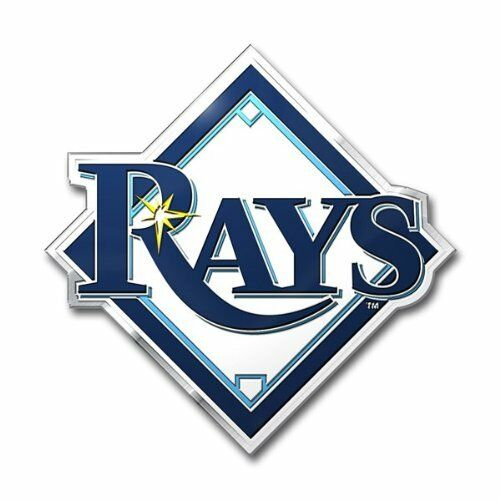 MLB 3D Tampa Bay Rays Auto Chrome Emblem Decal Sticker Car Truck