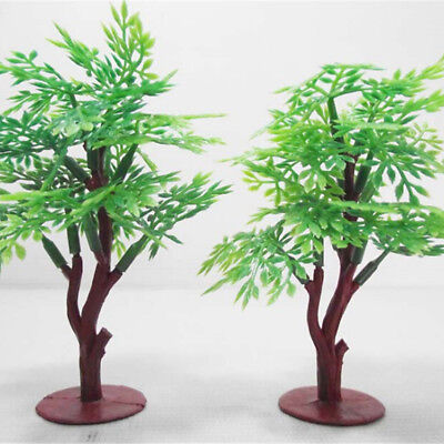 9cm Green Tree Model Railway Park HO SCALE Layout Scenery Dollhouse Decor