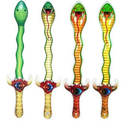 Inflatable Snake Swords Wholesale Assortment (BULK LOT OF 12X)