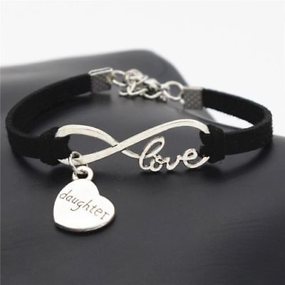 1pc Infinity Love Daughter Bracelet Charm Anklet Heart Mother Jewelry Gift