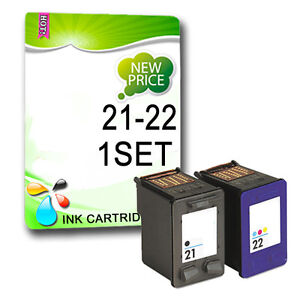 HP 21 22 BLACK & COLOUR INK CARTRIDGE COMBO DESKJET F2100 F2200 F2280 F2180 F380