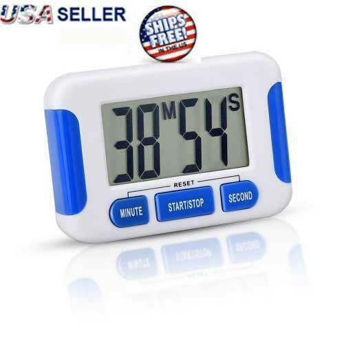 Digital Kitchen Timer Magnetic Cooking LCD Large Count Down Clear Loud Alarm Egg Home & Garden