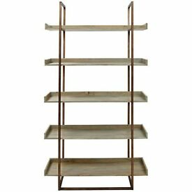 Asha Tall Bookcase in Mango Wood with Copper Finish, RRP £450, John Lewis